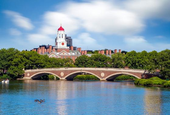 A view of Harvard from across the Charles River