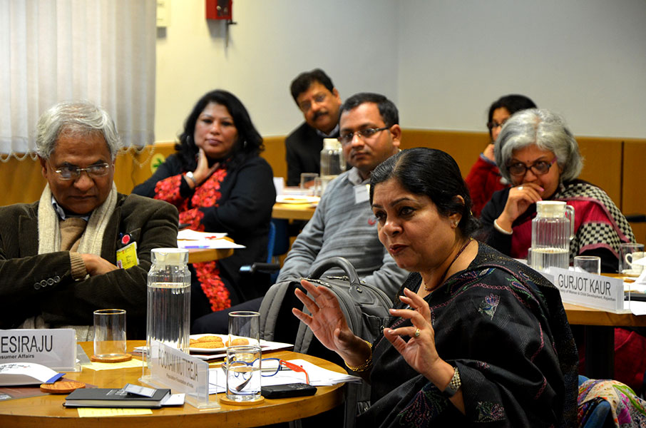Community leaders at the SAI workshop 'Addressing Gender Norms' in Delhi in 2015